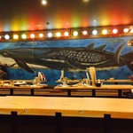 大衆酒場 ちばチャン - 無駄に大規模な鯨のイラスト!