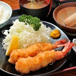 あづみ野 勝味庵 - 海老フライ定食