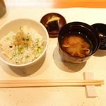 60418676 - 御飯+味噌汁