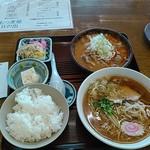 60420353 - ラーメンライスセット+もつ煮(大)