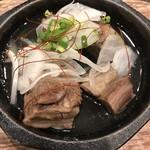 もつしげ - 【2016.12.21】牛タンとろ煮¥500