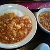 桜華楼 - 料理写真:マーボー丼(840円) マーボー丼&スープ