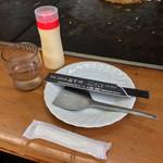 喫茶・お好み焼き おぞの - 喫茶・お好み焼き おぞの(岡山県岡山市厚生町)鉄板カウンター席