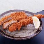 とんかつ 喜太条 - 特大海老フライ&ヒレかつ定食