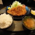 とんかつ 松永 - ロースカツ定食
