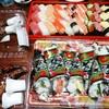 ヤオコー - 料理写真:【2016.12.24(土)】にぎり寿司+巻き寿司+ローストチキン