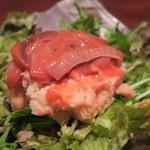 江戸や鮨八 - 塩辛ポテサラ¥580