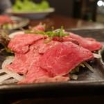 塚本 肉焼屋 - ☆レアステーキわさび醤油(#^.^#)☆