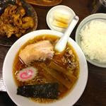 上田屋 - 2016年4月  Aセット タレもつ  1130円+50円ライス中に変更で