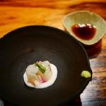 やたい家 - 【2016.11】鮃を昆布で〆たものを白和えにしてぽん酢で