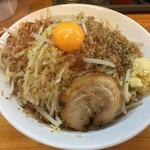 麺屋ガテン - MAZEそば(760円)ヤサイ・アブラ増し・ニンニクあり