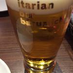 イタリアンバル バル道 - まずはビールで乾杯です。