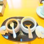 日本料理 佳香 - 和朝食3,683円のヒジキのふりかけと温玉専用ひしお