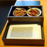 日本料理 佳香 - 和朝食3,683円の取り放題もろみ味噌、小梅、焼き海苔