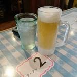 南清軒 - パク飲みセットのビール