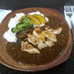 60449713 - 鶏x鶏カレー+焼き野菜