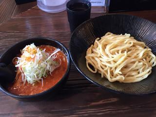 大塚屋 - 辛味噌つけそば800円