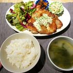 タベルトマル二条城 okatte - グリルチキン(スープ付、ご飯お代わり自由)税込850円