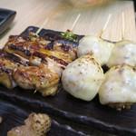 鶏介 - ねぎま(たれ)、チーズつくね