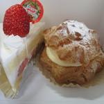パティスリー ヨシカワ - ショートケーキとシュークリーム