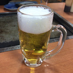 ふくや - 2016年12月25日  生ビール(中)500円