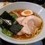 藤堂 - 冬月 柚子醤油のラーメン(平打ち麺)