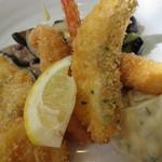 レストラン でん園 - 魚フライランチ、アップ!