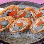 とんかつ 喜太条 - 豚肉の三色巻フライ