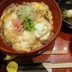 北新地うのあん - 他人丼サービスセットB(つみれ汁付き) ¥950