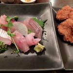 U・RO・CO - 地魚5点刺身とヒレカツ