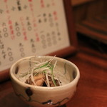 手打ち蕎麦切り 海望 - 2016年12月 牡蠣のオリーブオイル漬け