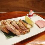 押上文庫 - 鶏の塩麹漬けバジル焼き(クリスマスバージョン)