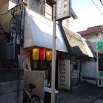 きど藤 - ケッコー地味な店構え。