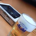 大衆焼肉本店 - 生ビール大ジョッキ