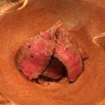 ちそう そったくいと - 宮崎A5和牛内ももハーブマリネの備長炭炙り:再訪時