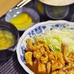 もりもり食堂 - せせり生姜焼きセット