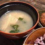 にこちゃん堂 - ★★★☆ お昼のご飯  汁物