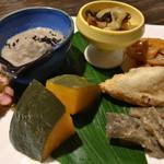 にこちゃん堂 - ★★★☆ お昼のご飯 季節の野菜おかず色々