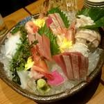 北の味紀行と地酒 北海道 - 刺身盛り
