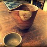 串焼炉端 三代目 巌流 - 日本酒(庭のうぐいす 純米) 1合800円