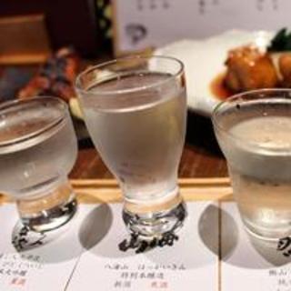 <日本酒を楽しもう>地酒3種利き酒飲み比べが人気!種類も豊富