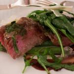 アルポルト - 黒毛和牛ロース肉のタリアータのお肉部