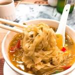 Wong Chi Kei Congee & Noodle - 麺はタリアテッレっぽい。