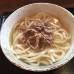 かっぱの巣 - 料理写真:肉うどん=700円