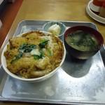 竹内食堂 - 食堂の「かつ丼」 という面がまえ