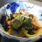 厨房 十 - 青菜のお浸し