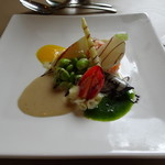 柿の樹 - 料理写真:ランチ前菜 サーモンのタルタル
