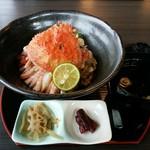 60485265 - 「まっ田セイコ丼」せいこカニ2杯分です。