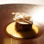 Restaurant Satoshi.F - 6年かけて発酵させたかんずりで調味したチョリソー、じゃがいものソース、ブラウンマッシュルーム