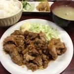 帆里 - 生姜焼き定食(¥800)